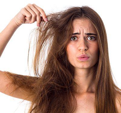 Verfilztes Haar