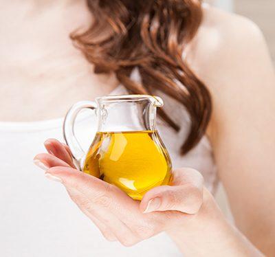 Haarmaske mit Olivenöl